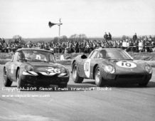 Lotus Elan and Ferrari 250LM Silverstone 1967